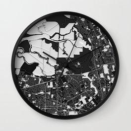 San José – Abstract Map Wall Clock