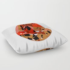 GEMS - red , velvet , orange , rubin Floor Pillow