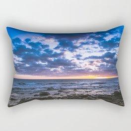Sunset rock landscape Rectangular Pillow