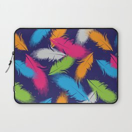 Bright Falling Feathers Laptop Sleeve