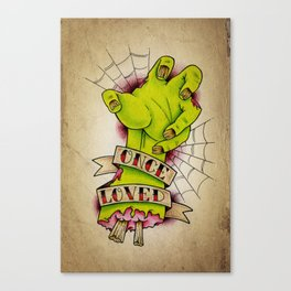 Once Loved - Tattoo Art Canvas Print
