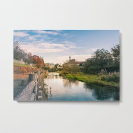 Autumn at Obihiro River Metal Print