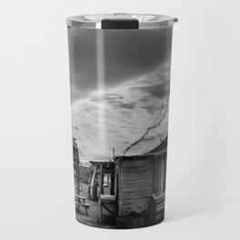 Abandoned houses in a ghost town Travel Mug