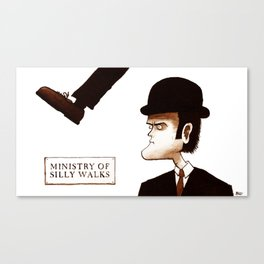 The Ministry of Silly Walks Canvas Print