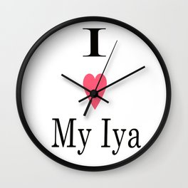 I Heart My Iya Wall Clock