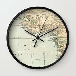 West  & North Africa Vintage Map Wall Clock