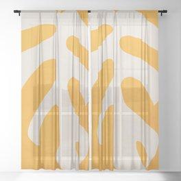 Minimal Art /Monstera Leaf Sheer Curtain