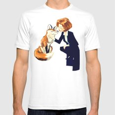 Trust of the Fox White MEDIUM Mens Fitted Tee