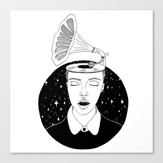 Universal sound Canvas Print
