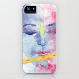 Krishna Playing Flute iPhone Case