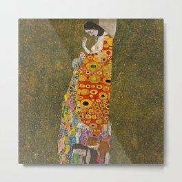 Gustav Klimt- Hope II, 1907 Metal Print