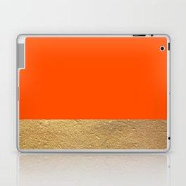 Color Blocked Gold & Poppy Laptop & iPad Skin