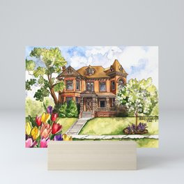 Victorian Mansion in the Spring Mini Art Print