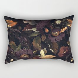 Vintage & Shabby Chic - Flowers at Night Rectangular Pillow