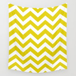 Citrine - green color - Zigzag Chevron Pattern Wall Tapestry