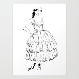 Nutcracker Sketch Art Print