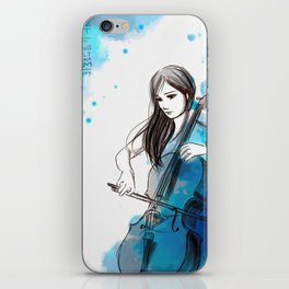 Mia and her cello iPhone Skin