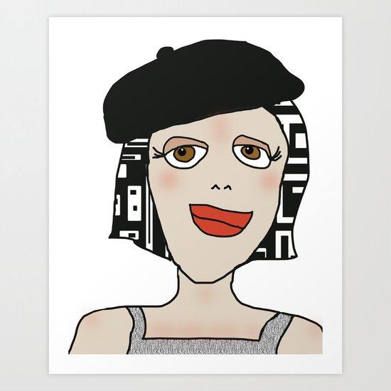 Digital Paper Doll 01 Art Print