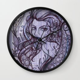 Octopian Girl Wall Clock