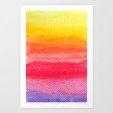 colorful watercolor brush strokes 2 Art Print