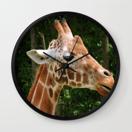 Giraffe Right Face Wall Clock