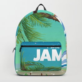 'Pure Paradise' Jamaica travel poster Backpack