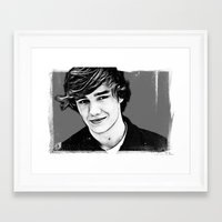 liam payne Framed Art Prints featuring Liam Payne by D77 The DigArtisT