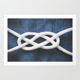 sailor knot Art Print
