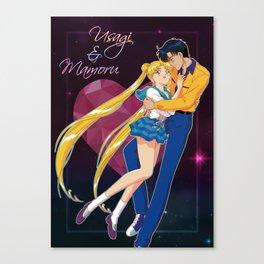 Usagi and Mamoru Canvas Print