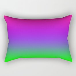 Proton Purple Plastic Pink Ultra Violet UFO Green Ombre Gradient Neon Colorful Pattern Shiny Texture Rectangular Pillow