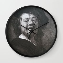 Rembrandt - Self-portrait or Bust of a Laughing Man Wall Clock