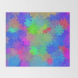 The silent of flowers ... Throw Blanket