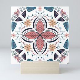Flower Butterfly Vine Mandala Mini Art Print