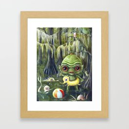 Baby Creature from the Black Lagoon Framed Art Print