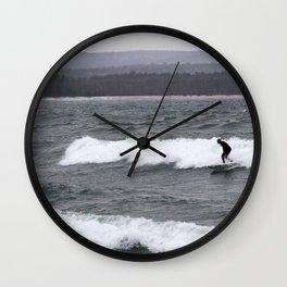 northern surf Wall Clock