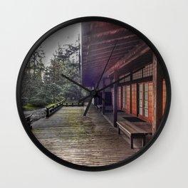 Japanese Garden Pavilion Wall Clock