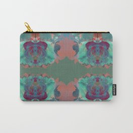 Abstract Mirrored Flower Pattern Carry-All Pouch