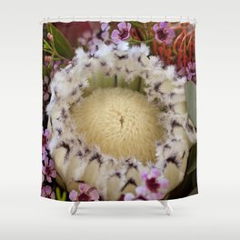 Fur Coat Protea Shower Curtain