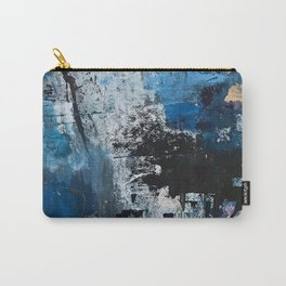 Breathe: colorful abstract in black, blue, purple, gold and white Carry-All Pouch