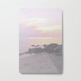 Sea You Soon Sunset Metal Print