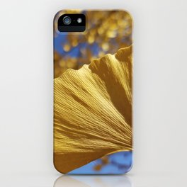 Ginkgo Gold! With sapphire sky iPhone Case