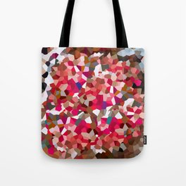 Ruby Red Heart Moon Love Tote Bag