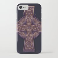celtic iPhone & iPod Cases featuring Celtic Cross by pakowacz