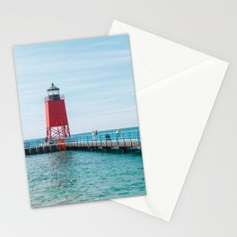 The Charlevoix South Pier Light Station Stationery Cards
