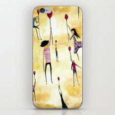 To Catch A Ride on A Red Balloon iPhone & iPod Skin