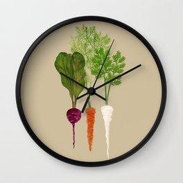 beet carrot parsnip Wall Clock