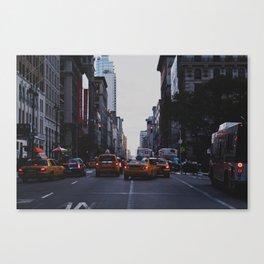 New York Traffic Canvas Print