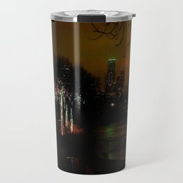 Christmas Lights, City Lights (Chicago Architecture Collection) Travel Mug
