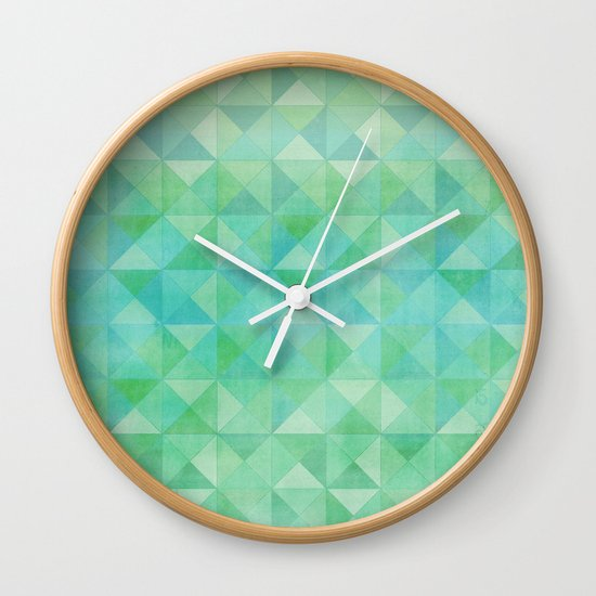 Green/Blue : Pattern Wall Clock