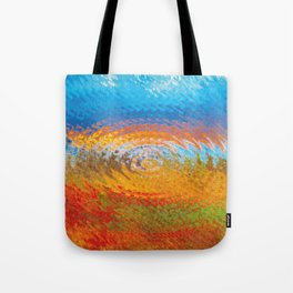 colorful vibrations Tote Bag